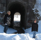 Mike & Robert at the Screaming Tunnel